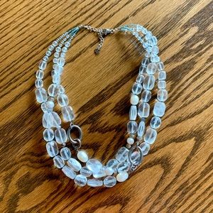Silpada Sterling Silver Glass Bead Necklace